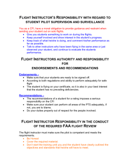 FLIGHT INSTRUCTOR'S RESPONSIBILITY WITH REGARD TO