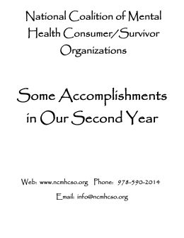 National Coalition of Mental Health Consumer/Survivor Organizations