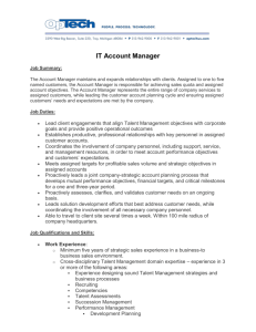 IT Account Manager Job Summary: The Account Manager maintains