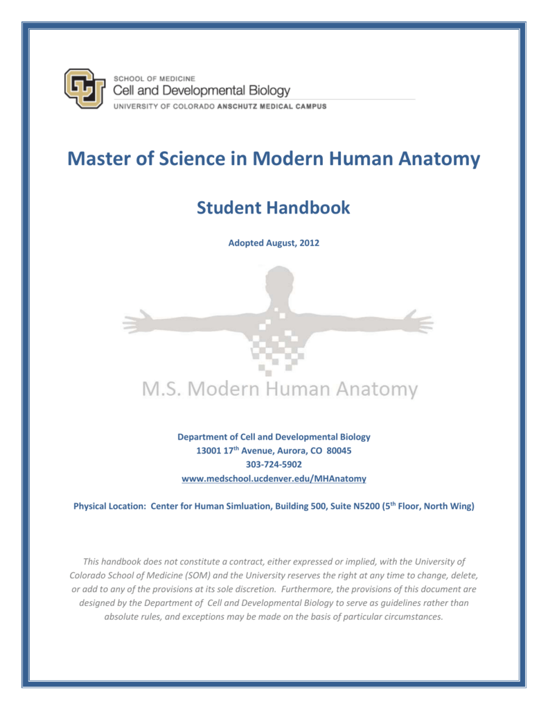 Master Of Science In Modern Human Anatomy