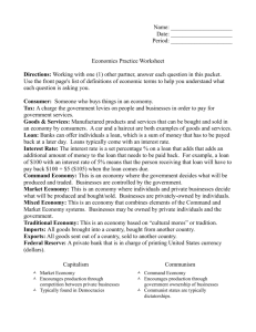Name: Date: Period: Economics Practice Worksheet Directions