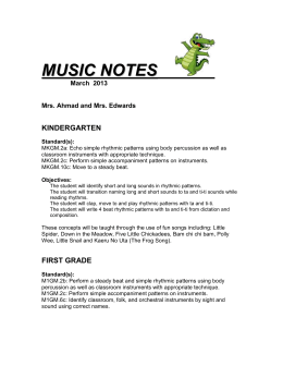 2013 March newsletter Music