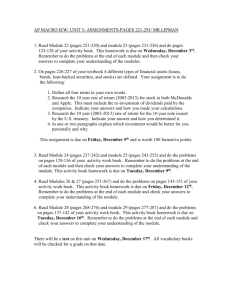AP MACRO H/W/ UNIT 5- ASSIGNMENTS-PAGES 221
