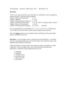 psych semester study guide