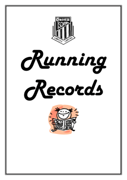 Running Records-facts sheet St Therese