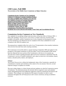 Fall 2000 - Middle States Commission on Higher Education
