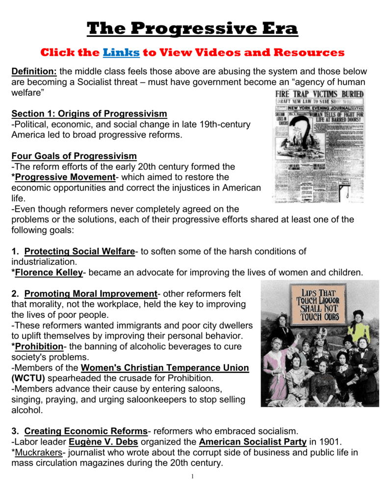 worksheet Progressive Era Worksheet the progressive era summary