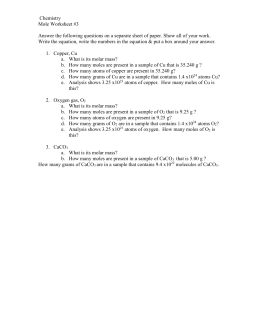 Mole Worksheet 3 & 4