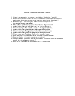 American Government Worksheet – Chapter 3