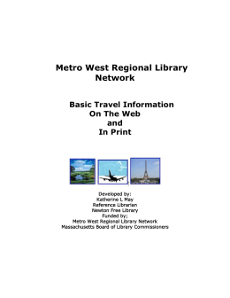 Metro West Regional Library Network
