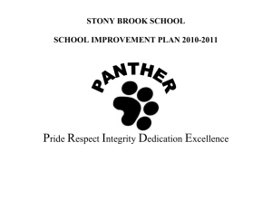 MERA School Improvement Goal - Stony Brook School