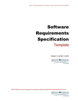 Software Requirements Specification Template - User requirement specification template