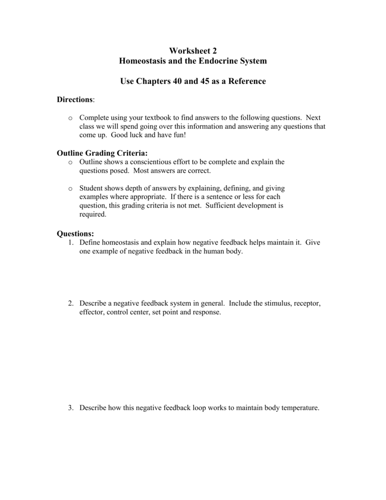 Worksheets Homeostasis Worksheet worksheet 3