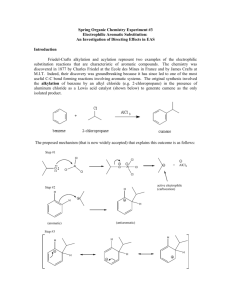 FRIEDEL-CRAFTS ACYLATION OF ANISOLE CATALYSED BY
