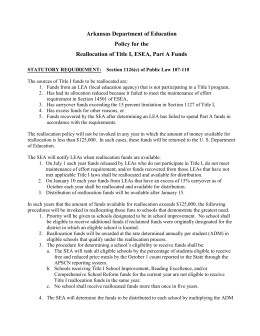 Title I Reallocation Policy - Arkansas Department of Education