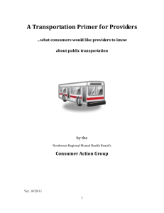 Transportation Primer for Providers