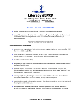 LiteracyWorks is a non-profit adult literacy program