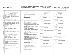 Lesson Observation Form - Monmouth Regional High School