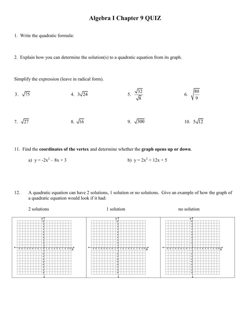 Bestseller: Algebra 2 Chapter 9 Test Answers