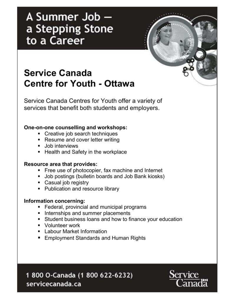 Ottawa Service Canada Centre For Youth