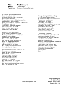 Lyrics - InnKeeper