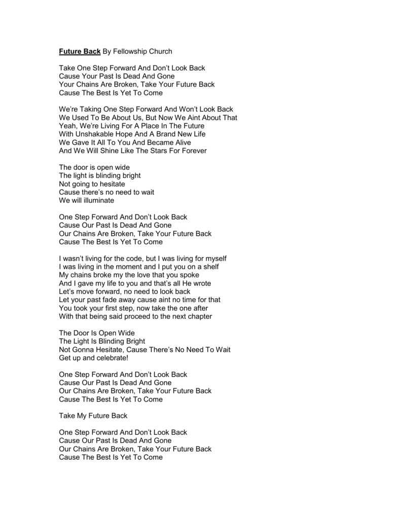 Lyrics - Fellowship Creative