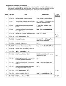 Schedule of Topics and Assignments