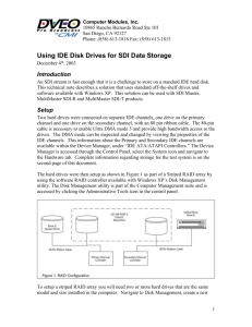 Disk Req. App Note