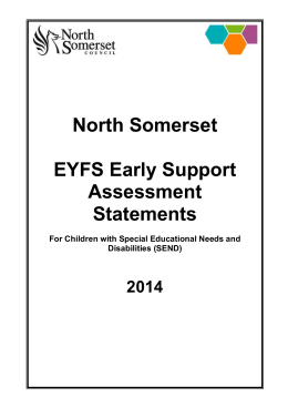 Early Support assessment statements