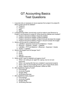 Basic Accounting Test Questions