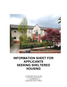 information sheet - Reidvale Housing Association