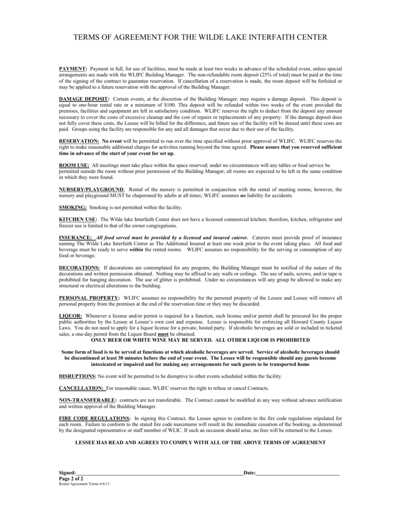 Wl Terms Of Agreement Page 2