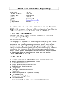 Work Design Syllabus - College of Engineering