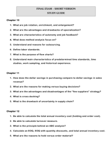 FINAL EXAM – SHORT VERSION STUDY GUIDE