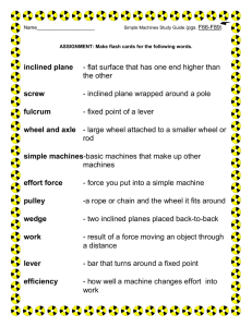 Simple Machines Study Guide
