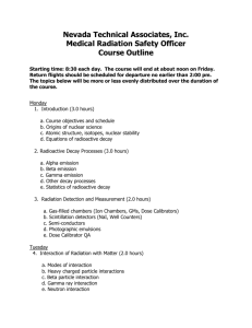 Nevada Technical Associates, Inc. Medical Radiation Safety Officer