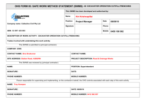 Form 05 - Safe Work Method Statement