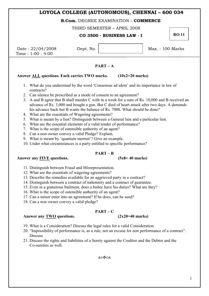 Co 3500 Business Law