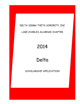 delta sigma theta research papers