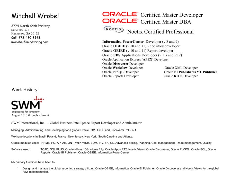 Mitchell Wrobel DBA, C - Application Everything, Inc