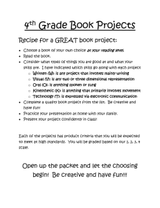 4th Grade Book Projects