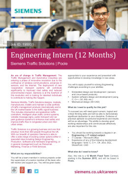 Engineering Intern (12 Months)