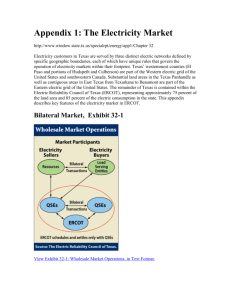Appendix 1: The Electricity Market