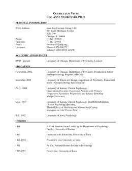 Curriculum Vitae - Isaac Ray Forensic Group, LLC