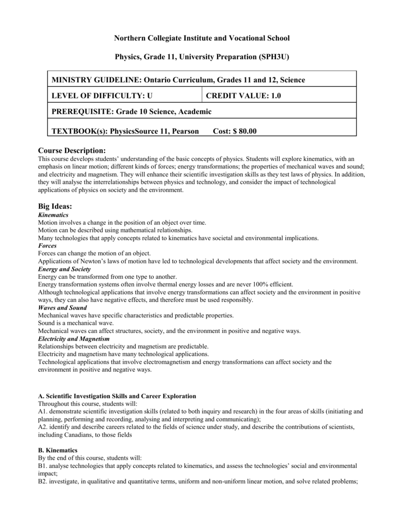 Biology, Grade 11, University Preparation (SBI3U)
