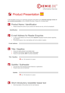 Template Product Presentation Spanish