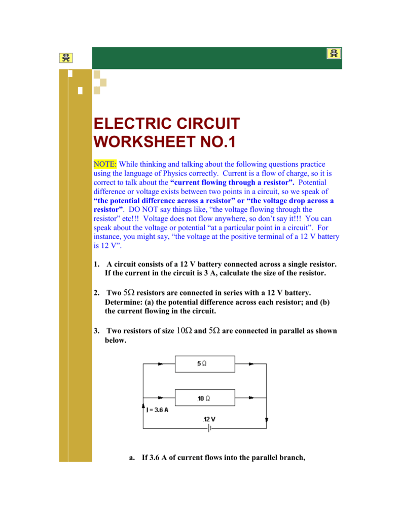 Free Worksheets Library Download And Print On A Circuit Is Circuits Electricity Teaching Ideas