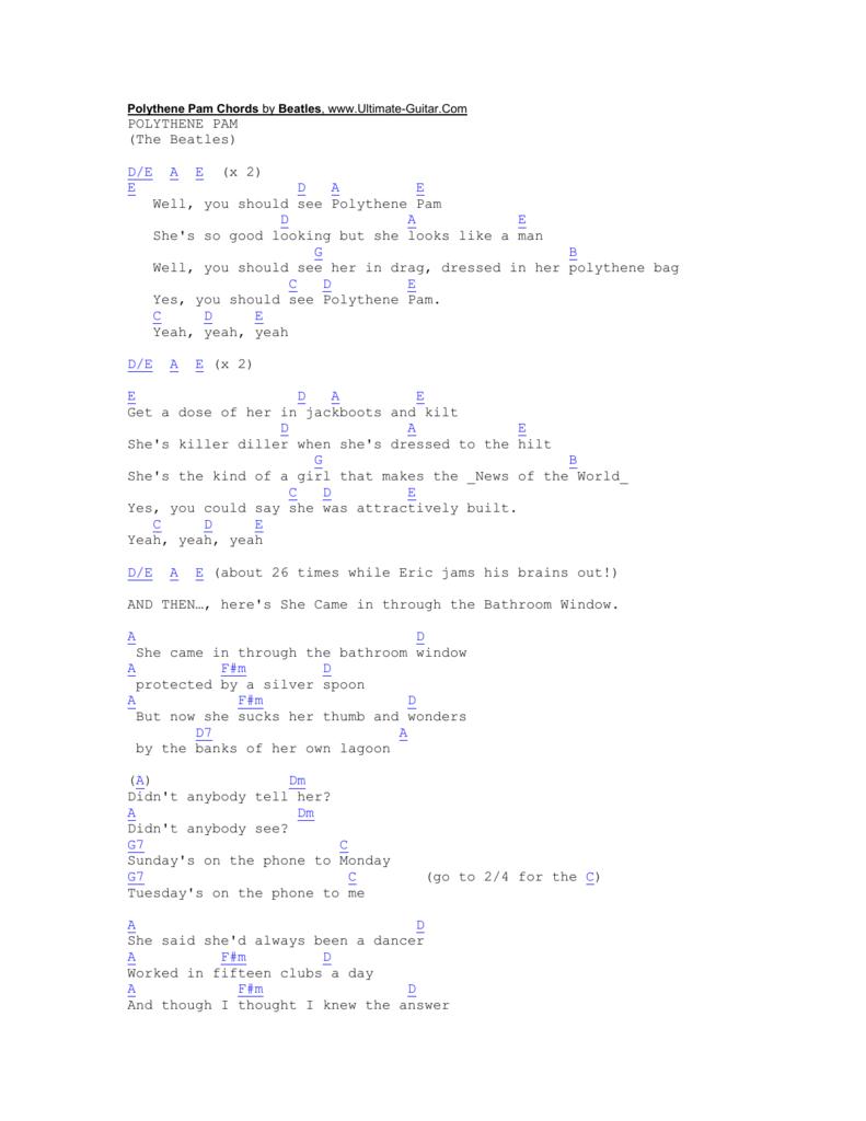 Golden Slumbers Chords by Beatles, www