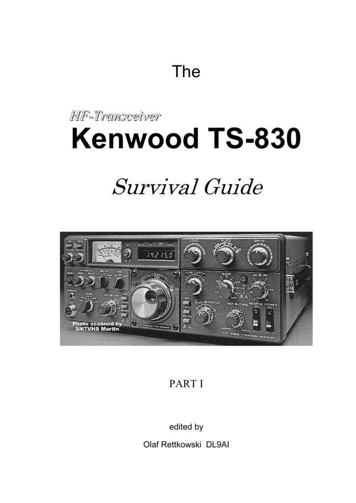 kenwood trio ts 830s transceiver repair manual