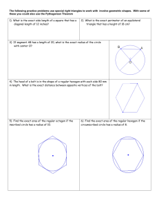 Special Right Triangles Review Problems